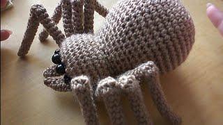 Паук крючком. Видео мастер-класс, схема и описание по вязанию игрушки амигуруми