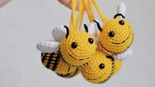 Пчела крючком. Видео мастер-класс, схема и описание по вязанию игрушки амигуруми