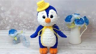Пингвин крючком. Видео мастер-класс, схема и описание по вязанию игрушки амигуруми