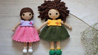 Платье крючком. Видео мастер-класс, схема и описание по вязанию игрушки амигуруми