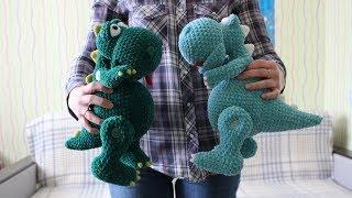 Плюшевый динозавр крючком. Видео мастер-класс, схема и описание по вязанию игрушки амигуруми