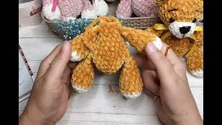 Плюшевый медвежонок крючком. Видео мастер-класс, схема и описание по вязанию игрушки амигуруми