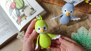 Птичка крючком. Видео мастер-класс, схема и описание по вязанию игрушки амигуруми