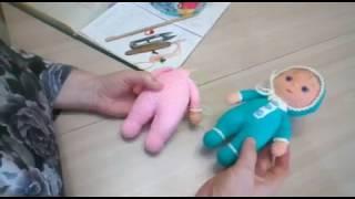 Пупс с секретиком крючком. Видео мастер-класс, схема и описание по вязанию игрушки амигуруми
