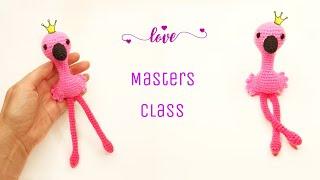 Розовый фламинго крючком. Видео мастер-класс, схема и описание по вязанию игрушки амигуруми