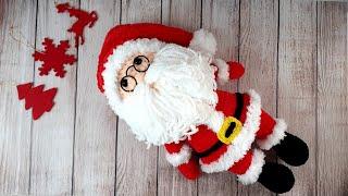 Санта Клаус крючком. Видео мастер-класс, схема и описание по вязанию игрушки амигуруми