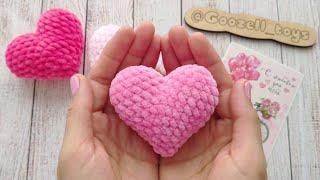 Сердце крючком. Видео мастер-класс, схема и описание по вязанию игрушки амигуруми