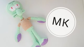 Сквидвард крючком. Видео мастер-класс, схема и описание по вязанию игрушки амигуруми