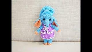 Слонёнок Лилу крючком. Видео мастер-класс, схема и описание по вязанию игрушки амигуруми