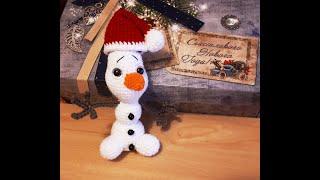 Снеговик Олаф крючком. Видео мастер-класс, схема и описание по вязанию игрушки амигуруми