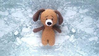 Собачка крючком. Видео мастер-класс, схема и описание по вязанию игрушки амигуруми