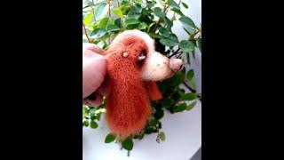 Собачка Бассет крючком. Видео мастер-класс, схема и описание по вязанию игрушки амигуруми