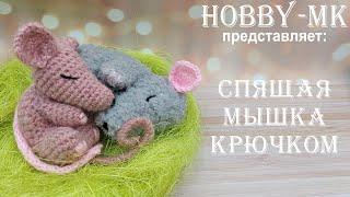 Спящий мышонок крючком. Видео мастер-класс, схема и описание по вязанию игрушки амигуруми