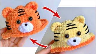 Тигр-перевёртыш крючком. Видео мастер-класс, схема и описание по вязанию игрушки амигуруми