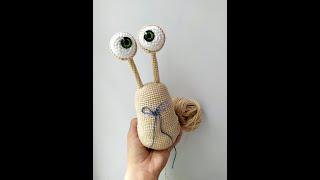 Улитка крючком. Видео мастер-класс, схема и описание по вязанию игрушки амигуруми