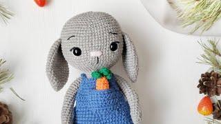 Зайка крючком. Видео мастер-класс, схема и описание по вязанию игрушки амигуруми