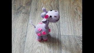 Жирафик Элька крючком. Видео мастер-класс, схема и описание по вязанию игрушки амигуруми
